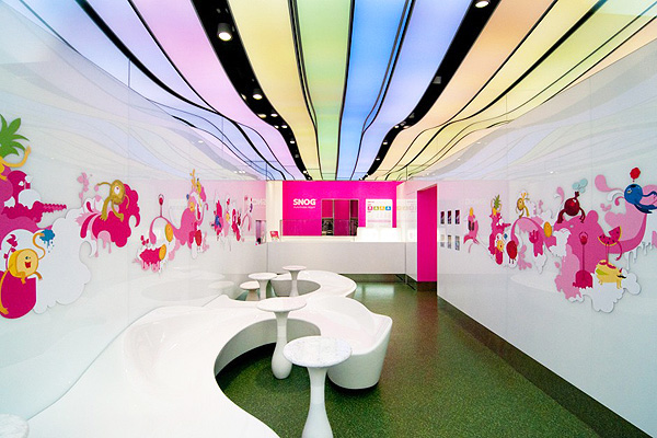 Cinimod Studio Have Delivered Their 6th Snog Pure Frozen Yogurt Store And As Always Design Technology Boundaries Been Pushed To Deliver A Unique